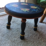 2016 Project Hallingdal Style Painted Stool